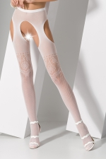 Collants ouverts S017 - Blanc