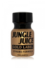 Poppers jungle juice gold label 10 ml : Poppers Jungle Juice à base d'Amyle, en version gold extrême en raison de l'intensité et de la pureté de sa formule.
